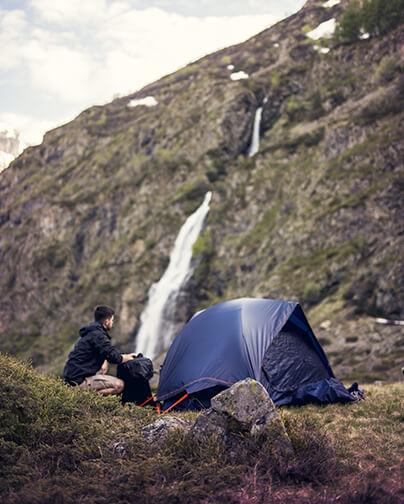 randonnée nature tente camping Qaou