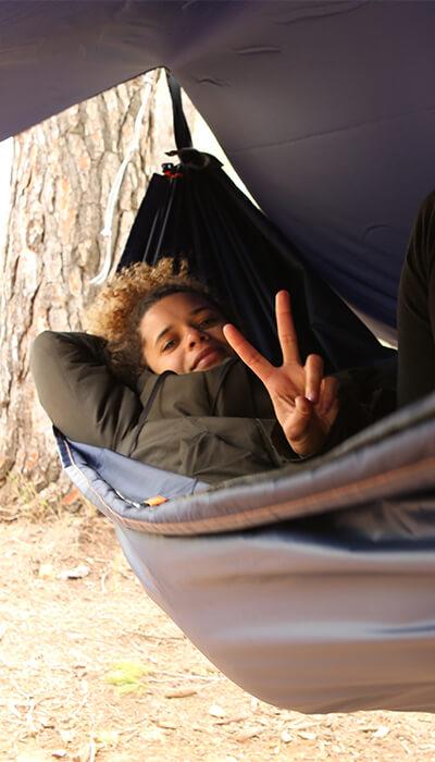 Qaou tente hamac abri camping randonnée