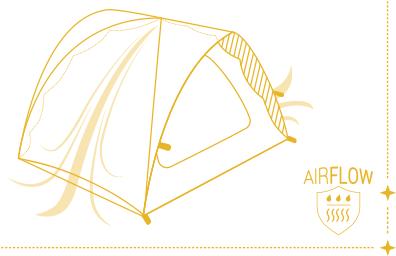 Qaou utilisation tente multifonctions airflow