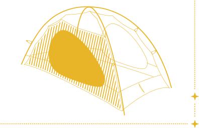 Qaou utilisation tente camping nature randonnée