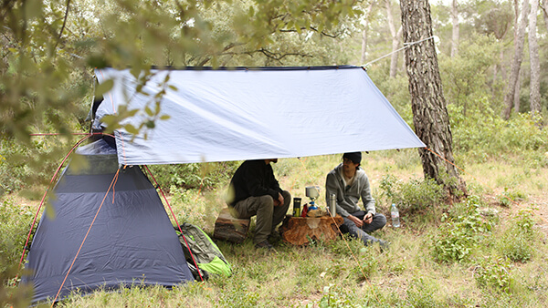 Qaou tente multifonctions abri camping randonnée