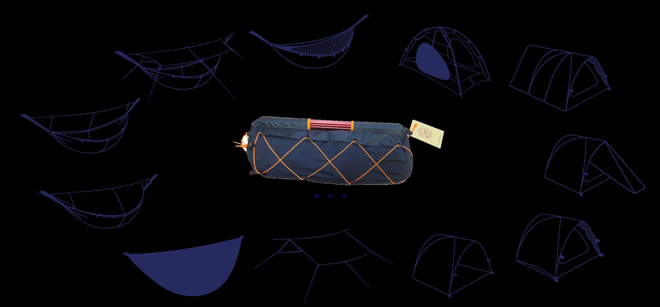 Qaou-tente multifonction