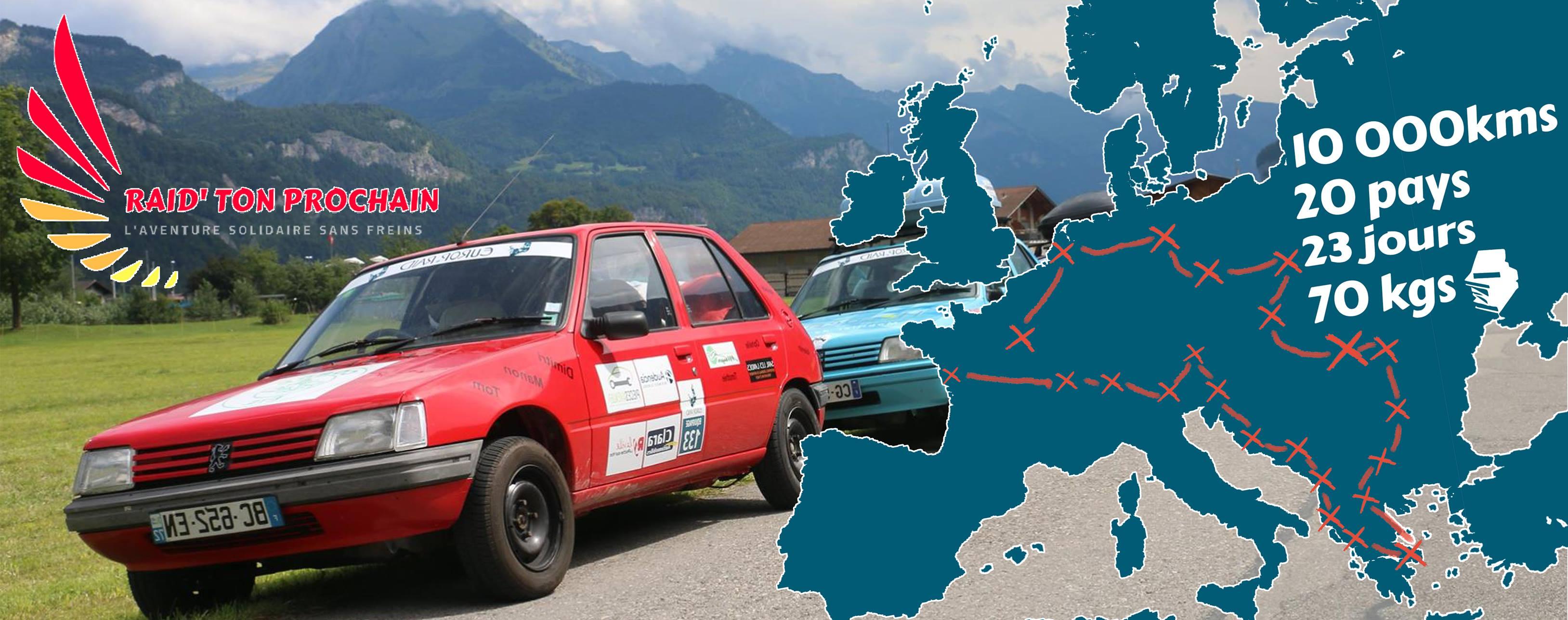 Un road-trip solidaire au cœur de l'Europe à bord d'une 205 Peugeot
