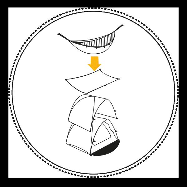 Tente modulable et multifonction Qaou innovante