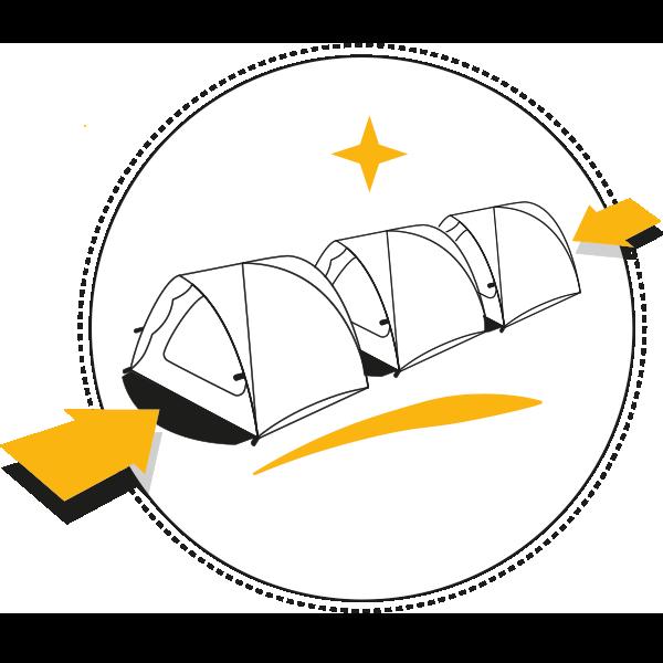 Tente modulable et multifonction Qaou connectable